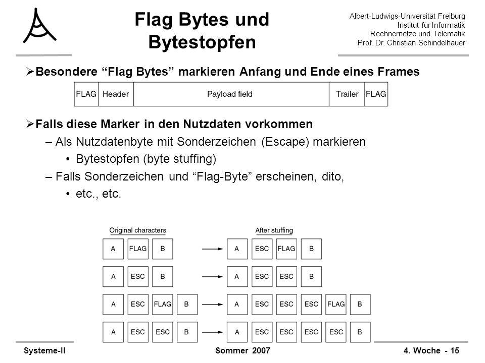 Albert-Ludwigs-Universität Freiburg Institut für Informatik Rechnernetze und Telematik Prof. Dr. Christian Schindelhauer Systeme-II4. Woche - 15Sommer