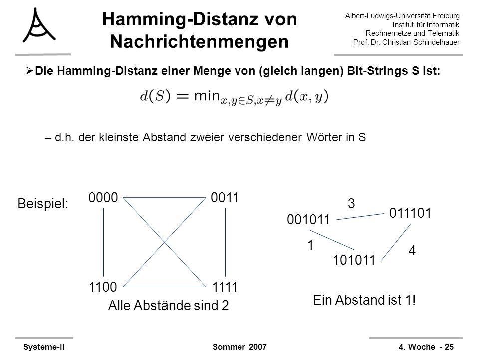 Albert-Ludwigs-Universität Freiburg Institut für Informatik Rechnernetze und Telematik Prof. Dr. Christian Schindelhauer Systeme-II4. Woche - 25Sommer
