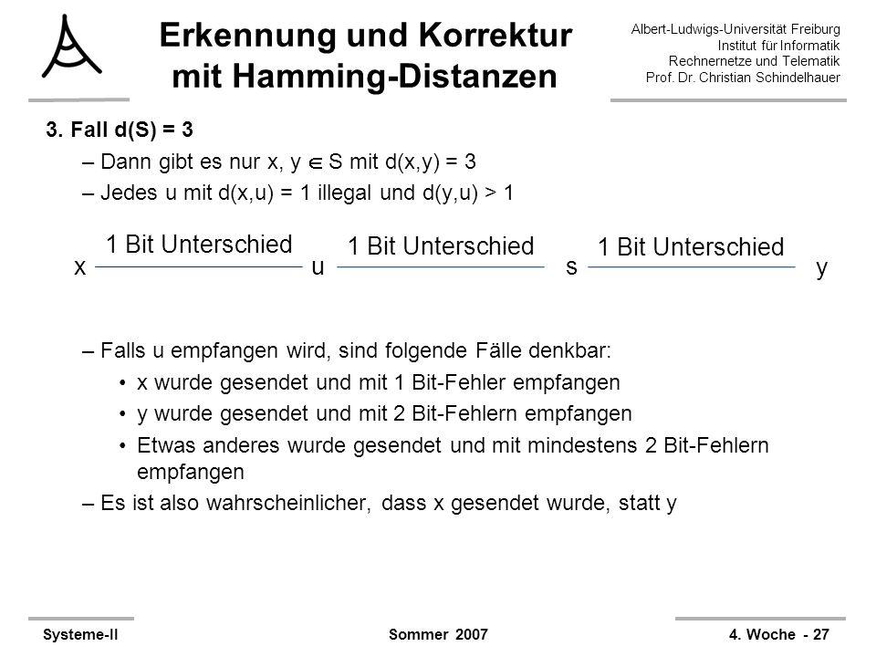 Albert-Ludwigs-Universität Freiburg Institut für Informatik Rechnernetze und Telematik Prof. Dr. Christian Schindelhauer Systeme-II4. Woche - 27Sommer
