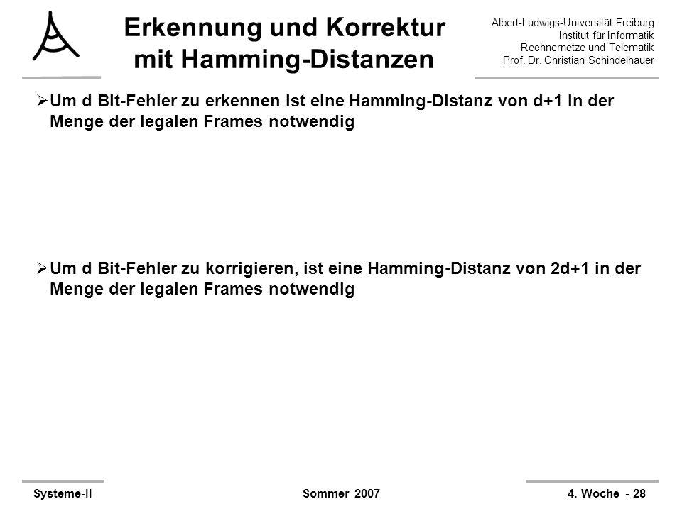 Albert-Ludwigs-Universität Freiburg Institut für Informatik Rechnernetze und Telematik Prof. Dr. Christian Schindelhauer Systeme-II4. Woche - 28Sommer