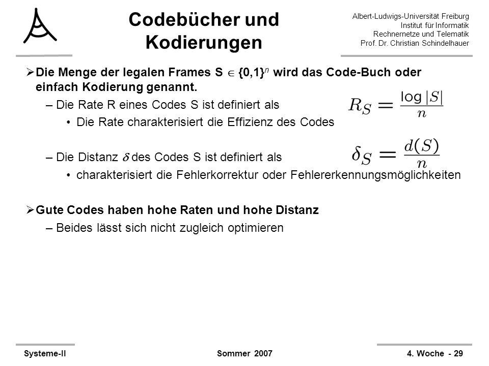 Albert-Ludwigs-Universität Freiburg Institut für Informatik Rechnernetze und Telematik Prof. Dr. Christian Schindelhauer Systeme-II4. Woche - 29Sommer
