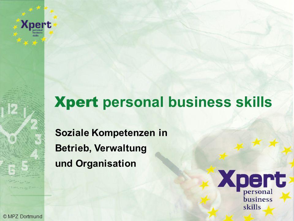 12 Trainingsmodule aufgeteilt in 4 Kompetenzbereiche © MPZ Dortmund
