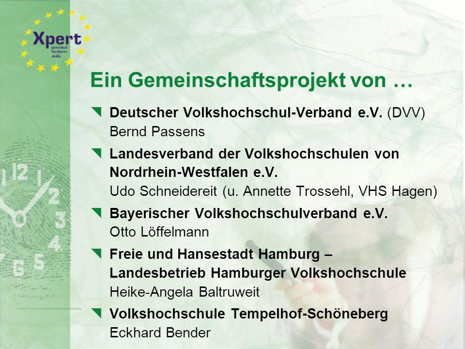 Ein Gemeinschaftsprojekt von …  Deutscher Volkshochschul-Verband e.V.