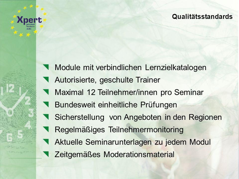 Qualitätsstandards für Angebot und Durchführung der Seminare: