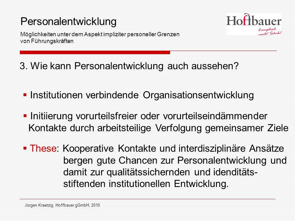 3. Wie kann Personalentwicklung auch aussehen? Jürgen Kraetzig, Hoffbauer gGmbH, 2010  Institutionen verbindende Organisationsentwicklung  Initiieru