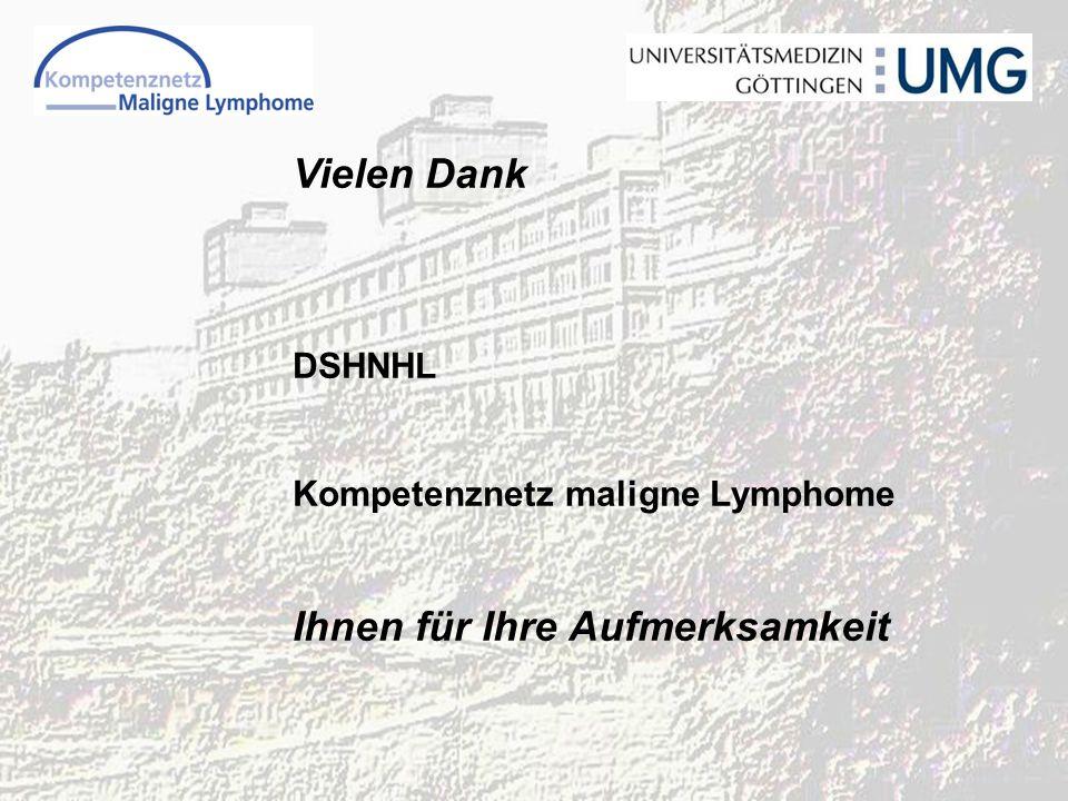 Vielen Dank DSHNHL Kompetenznetz maligne Lymphome Ihnen für Ihre Aufmerksamkeit