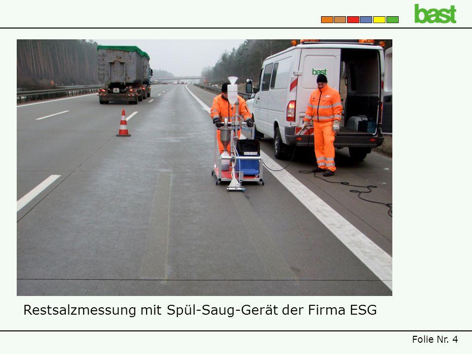 Restsalzmessung mit Spül-Saug-Gerät der Firma ESG Folie Nr. 4