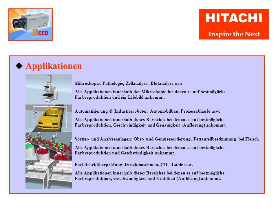 HITACHI Inspire the Next ◆ Farbränder Korrektur Die ASC Funktion behebt automatisch Farbschatten Fehler, die in der verwendete Optik oder durch das Pr