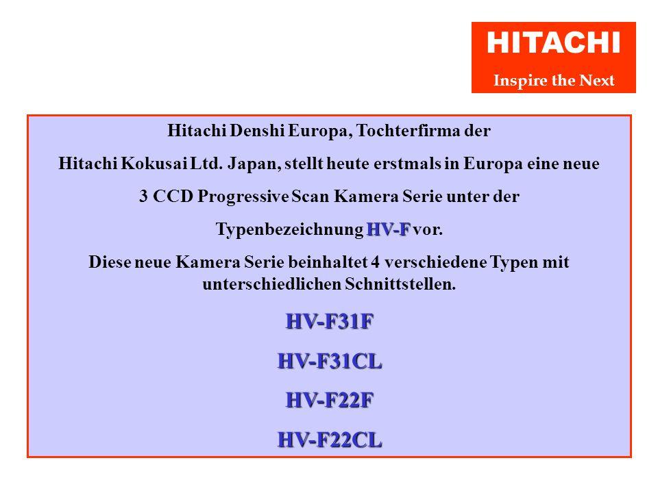 Pressekonferenz 14. Juni 2004 Europa Premiere 3 CCD Progressive Scan Kameras HV-F Serie Hitachi Denshi (Europa) GmbH Weiskircher Str. 88 D-63110 Rodga