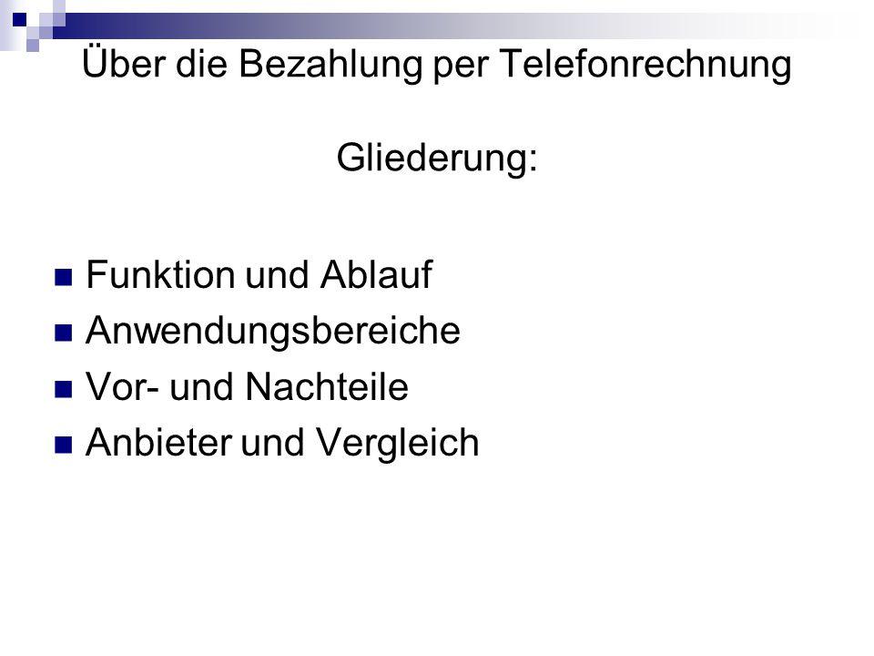 Pay by Call Über die Bezahlung per Telefonrechnung