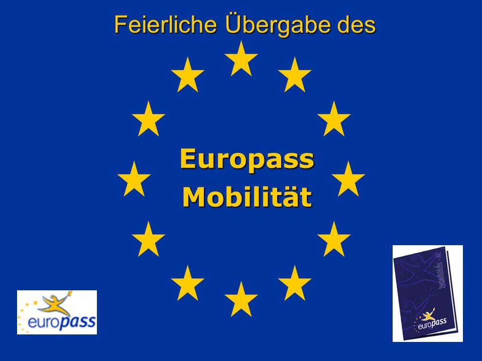 Feierliche Übergabe des EuropassMobilität