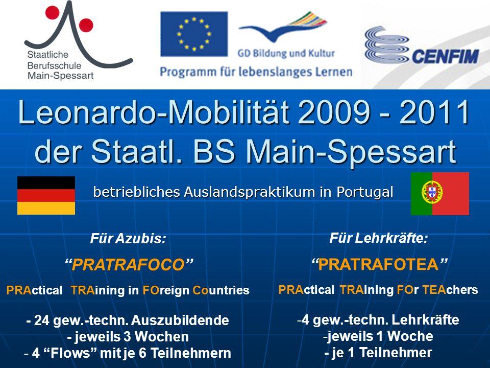Leonardo-Mobilität 2009 - 2011 der Staatl.