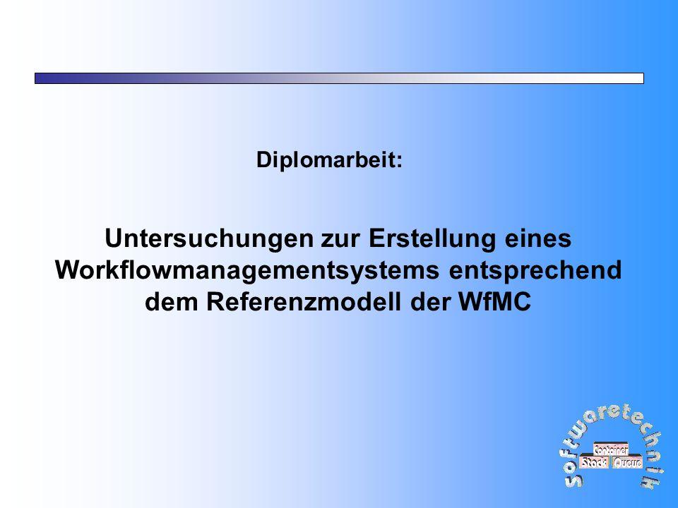 2 Gliederung Motivation Standard der WfMC Vorhandenes WfM System Einbringung des Standards Einbringung einer Datenbank Zusammenfassung