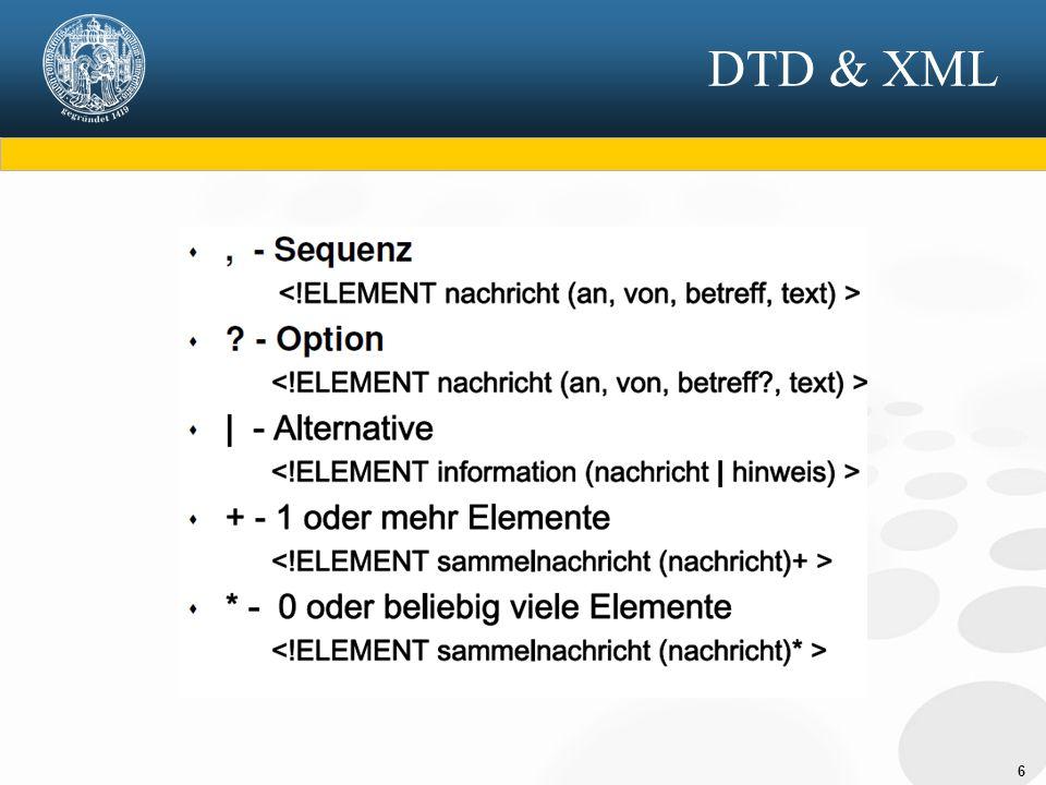 6 DTD & XML