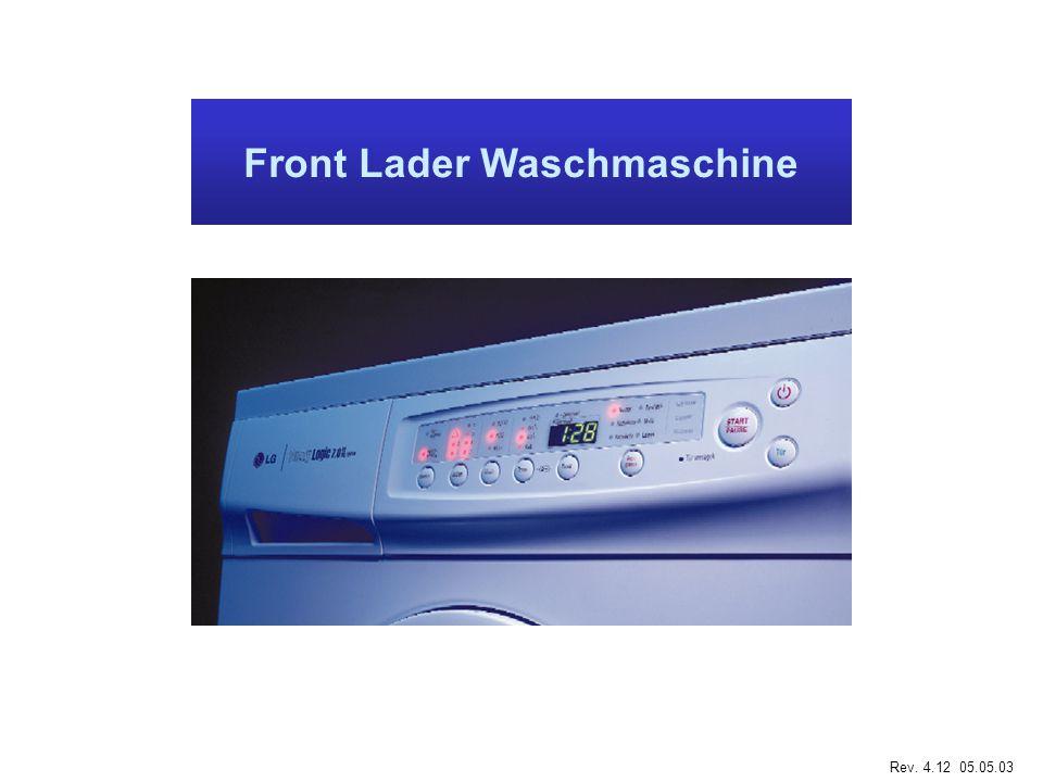 Front Lader Waschmaschine Rev. 4.12 05.05.03