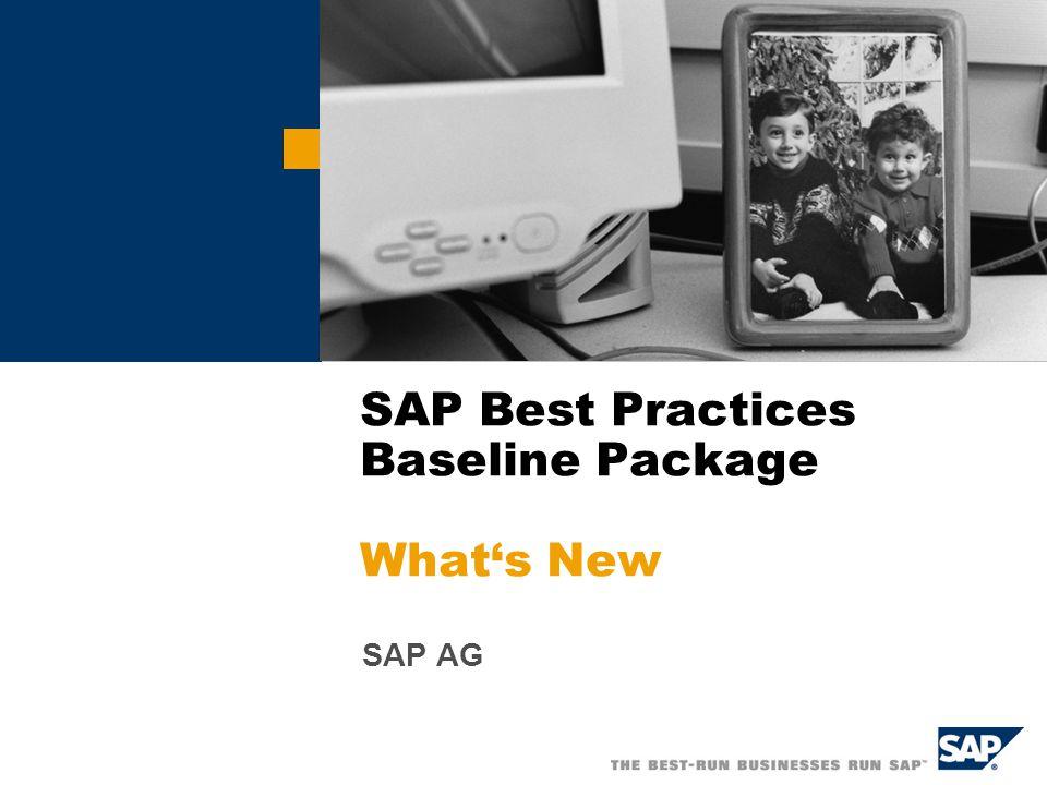  SAP AG 2006, TW What's New Kurzübersicht: Was gibt's Neues Neues Szenario: Self-Service Beschaffungsprozess Erweiterter Personalisierungsumfang Verbesserte Personalisierungsmöglichkeiten Neue Dokumentation: Installation Assistant Benutzerleitfaden Verbesserter SAP Best Practices Installation Assistant