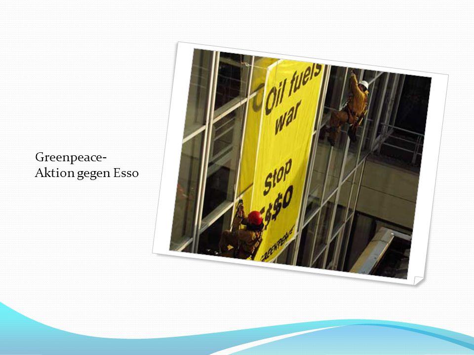 Greenpeace- Aktion gegen Esso