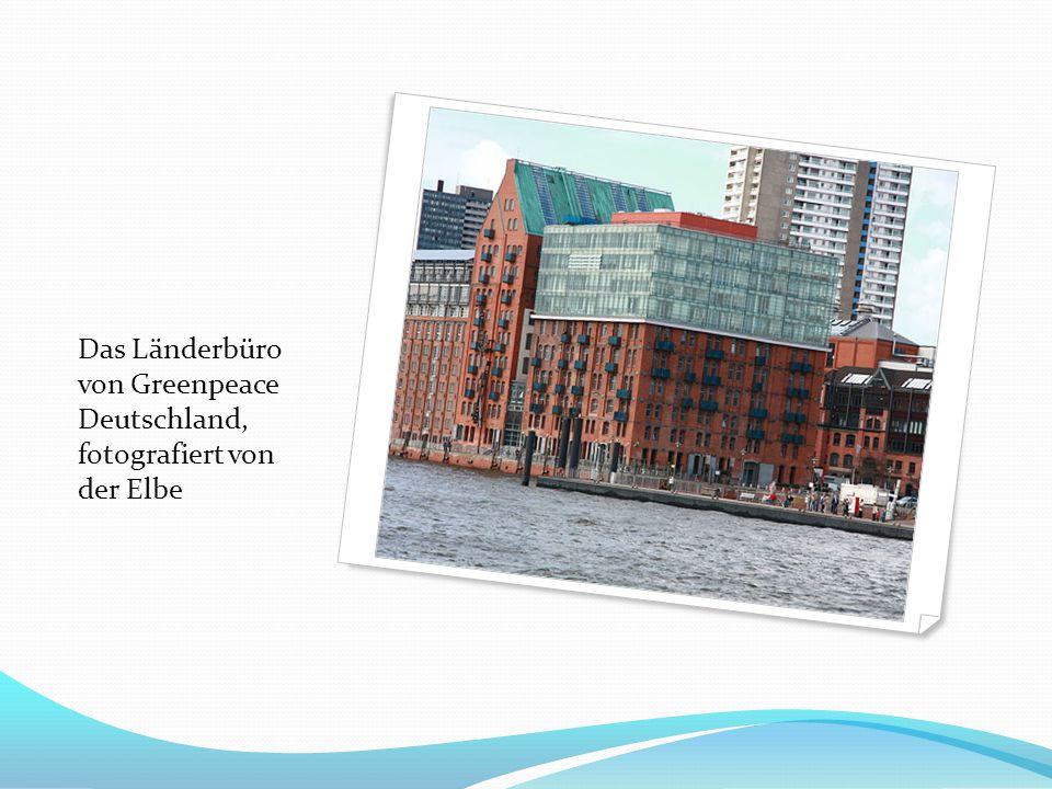 Das Länderbüro von Greenpeace Deutschland, fotografiert von der Elbe