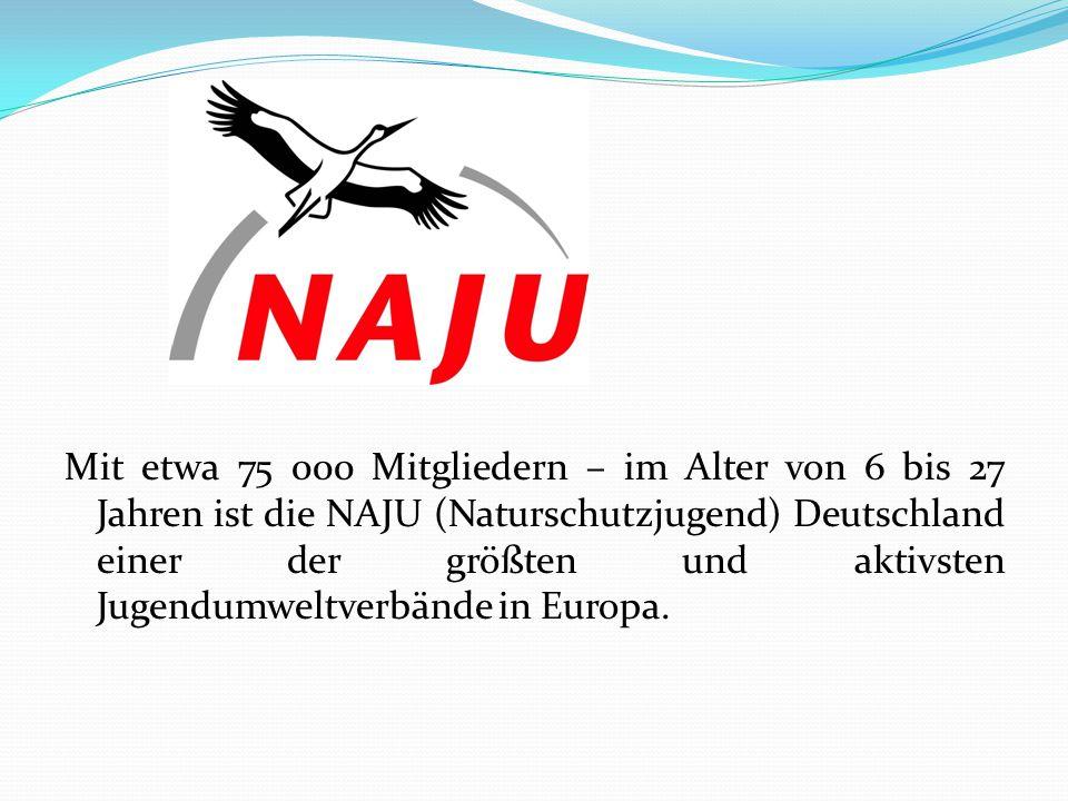 Mit etwa 75 000 Mitgliedern – im Alter von 6 bis 27 Jahren ist die NAJU (Naturschutzjugend) Deutschland einer der größten und aktivsten Jugendumweltve