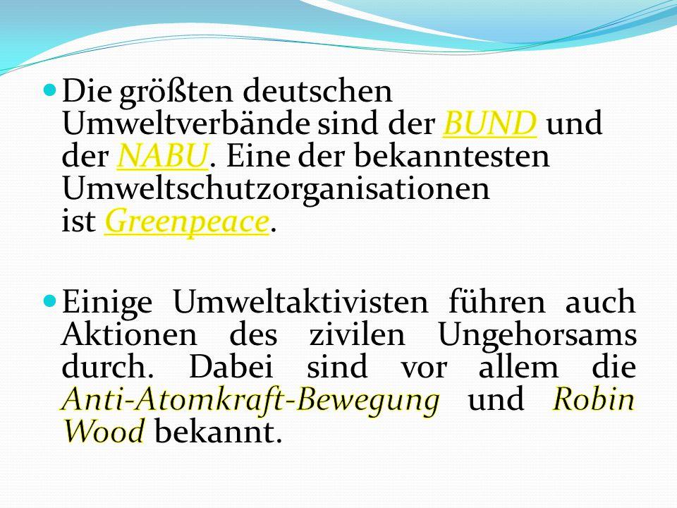 Der BUND (Bund für Umwelt und Naturschutz Deutschlands) ist einer der großen Umweltverbände Deutschlands.