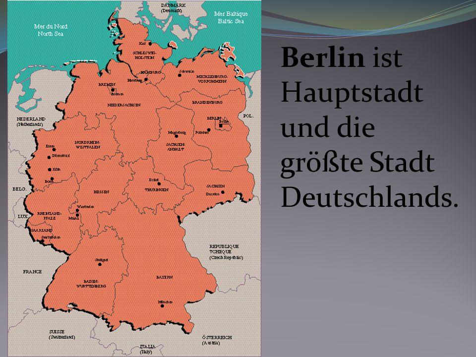 Das Brandenburger Tor ist ein Wahrzeichen Berlins und das Symbol der Wiedervereinigung