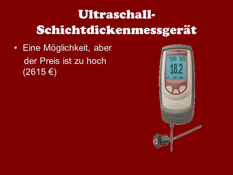 Ultraschall- Schichtdickenmessgerät Eine Möglichkeit, aber der Preis ist zu hoch (2615 €)
