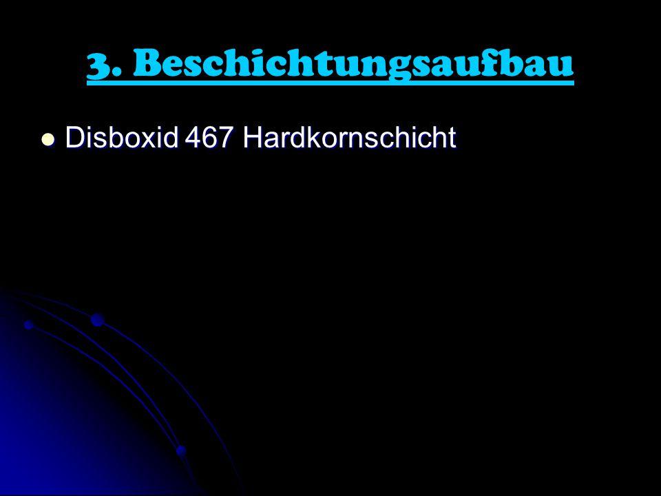 3. Beschichtungsaufbau Disboxid 467 Hardkornschicht Disboxid 467 Hardkornschicht