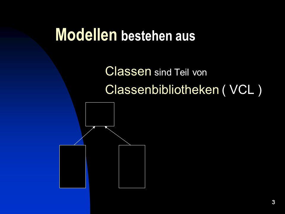 2 Allgemein OOP Konzept besteht darin, ein Modell zu einer gegeben Situation zu erstellen und es zur Realisierung von einem bestimmten Funktionalität zu nutzen.