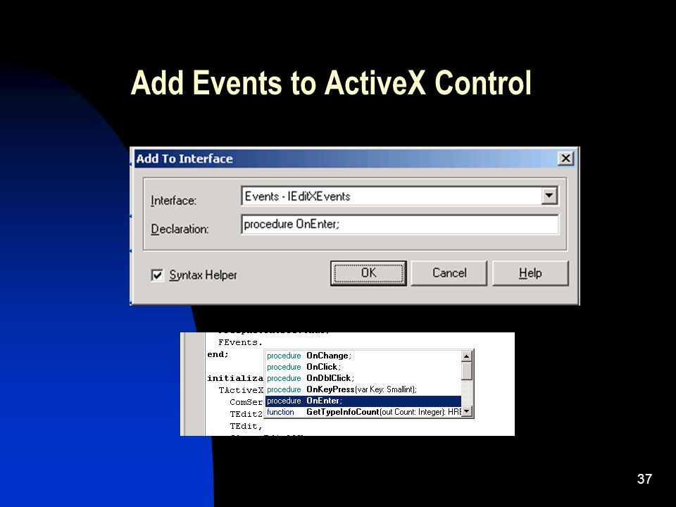 36 TButton TButtonX FEvents Client IEvents : OnCick