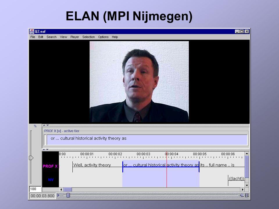 ELAN (MPI Nijmegen)