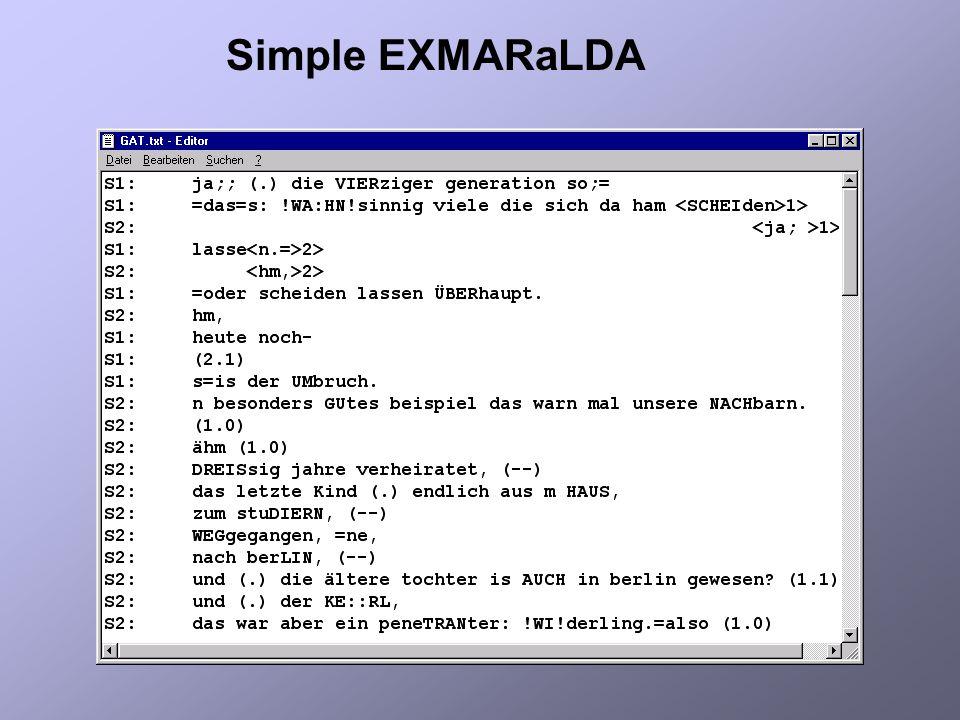 Simple EXMARaLDA