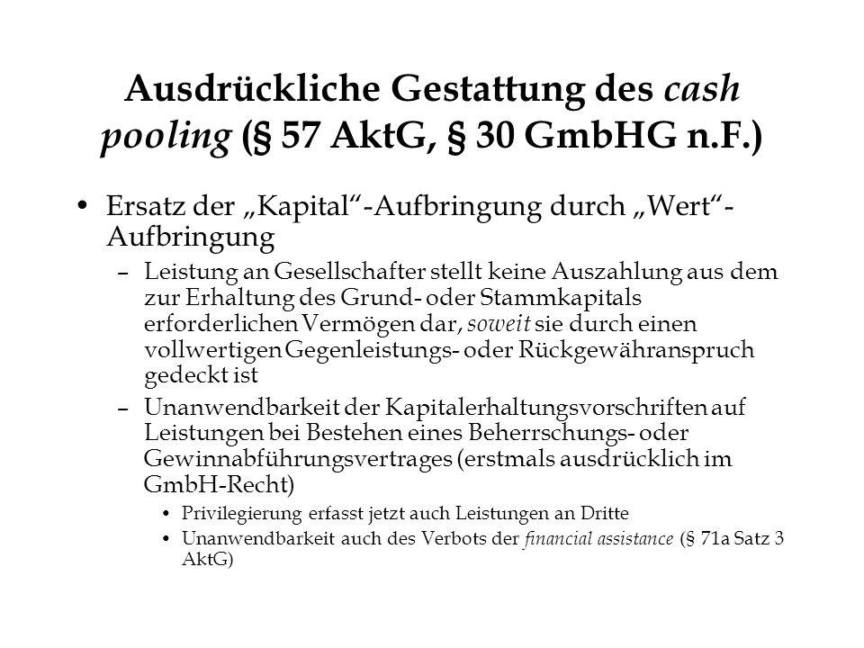 © Heribert Hirte Ausschüttungssperre - größere Reichweite der Auszahlungssperre nach § 57 Abs.