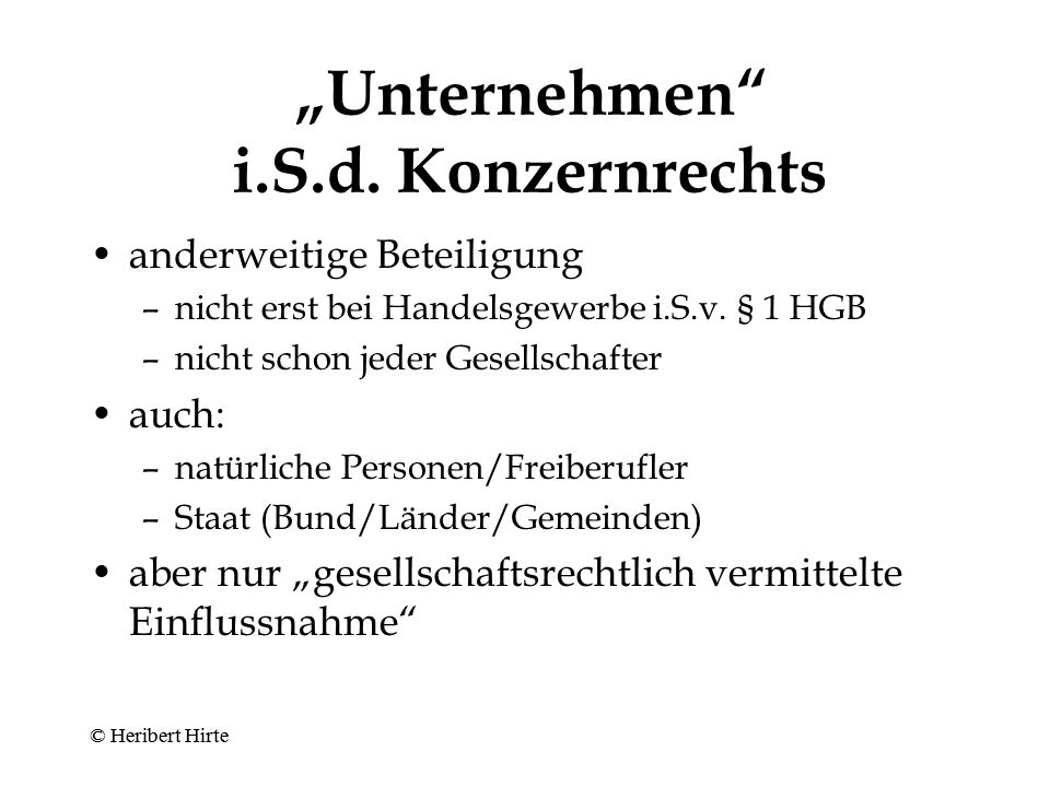 """Konzernkonflikt A Z 80 % Y 90 % X 100 % 20 % 10 % © Heribert Hirte"