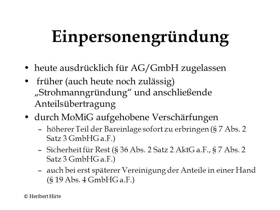 Geeignete Rechtsformen © Heribert Hirte