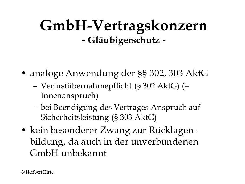 GmbH-Vertragskonzern - Minderheitenschutz - Mehrheitserfordernisse beim Abschluss eines Beherrschungs- und Gewinnabführungs- vertrages auf Ebene der Untergesellschaft –Behandlung als normale Satzungsänderung (§ 53 Abs.