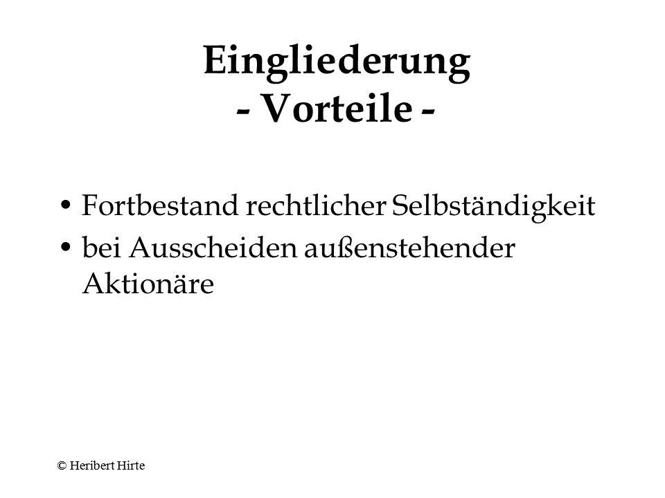 """GmbH-Konzern - """"Video -Fall BGHZ 115, 187 - A (natürliche Person) Y-GmbH X-GmbH Geschäfts- verlage- rung In- sol- venz Verlustaus- gleichs- anspruch analog §§ 302, 303 AktG © Heribert Hirte"""
