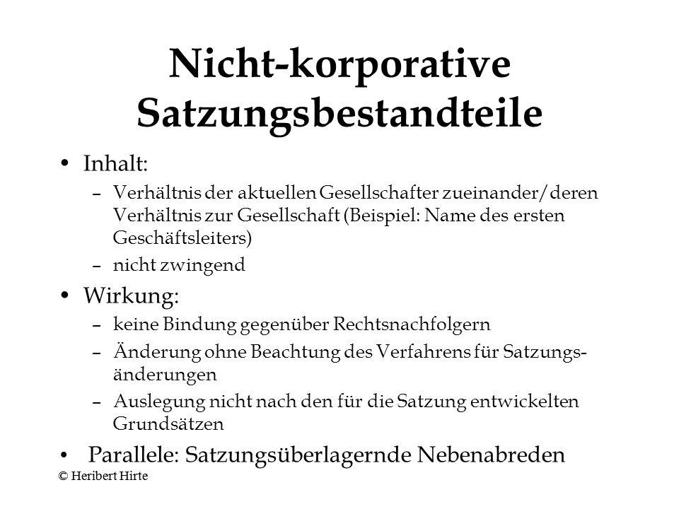 Zwingender Inhalt der Satzung II Gesamtnennkapital (Art.