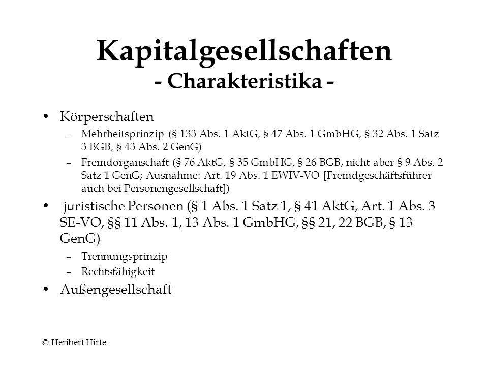 © Heribert Hirte Kompaktkurs Aktienrecht Köln, 13.