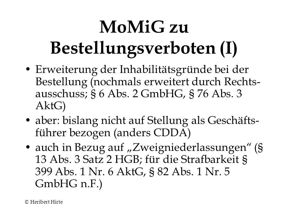 Aktiengesellschaft - Organisation - © Heribert Hirte Hauptversammlung § 119 AktG Aufsichtsrat (ggfls.