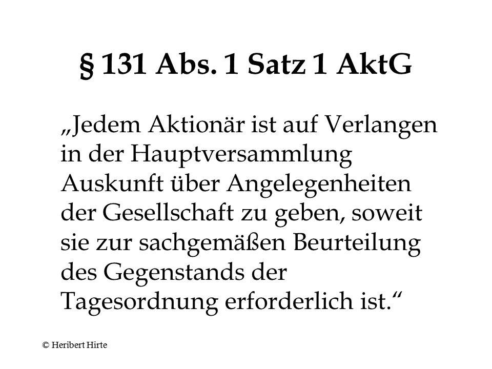 Pflichten des Geschäftsleiters - gegenüber der Gesellschaft -  aus dem Anstellungsvertrag –Allgemeines –Wettbewerbsverbot –Enthaftung © Heribert Hirte