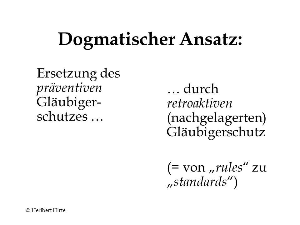 """""""Solvenztest des § 64 (Abs.2) Satz 3 GmbHG n.F.: (= § 92 Abs."""