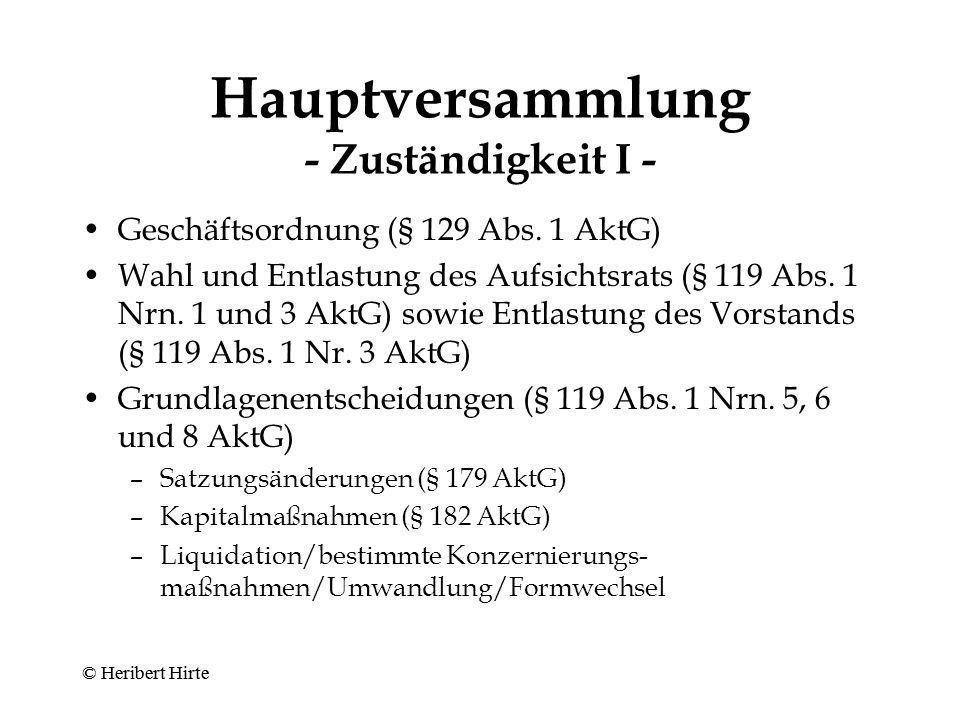 Pflichten des Aufsichtsrats - Verwaltung - Zustimmungsvorbehalte (§ 111 Abs.