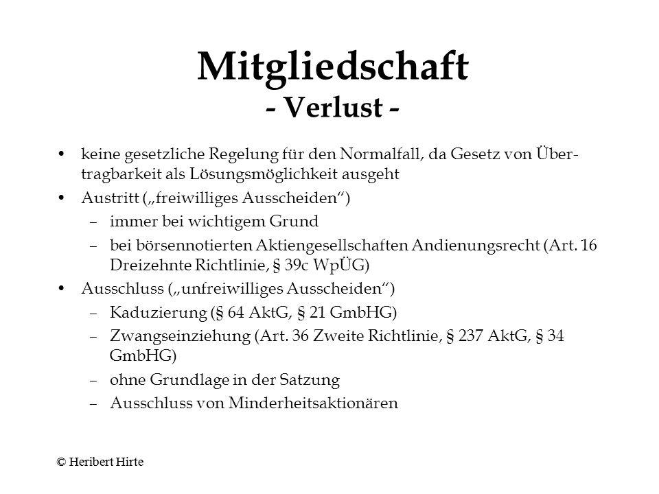 © Heribert Hirte Gesellschafterliste
