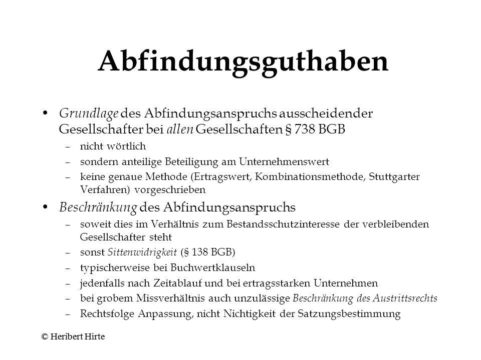 """Mitgliedschaft - Ausschluss (""""unfreiwilliges Ausscheiden ) - Kaduzierung (§ 64 AktG, § 21 GmbHG) Zwangseinziehung (Art."""