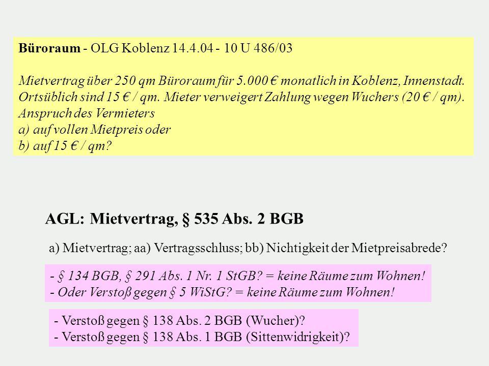 """OLG Düsseldorf 2.5.2007 - I-10 W 29/07, juris = WuM 2007, 567 (Hinweis in: Finanztest 2/2008) """"Meine Freundin und ich haben uns getrennt."""