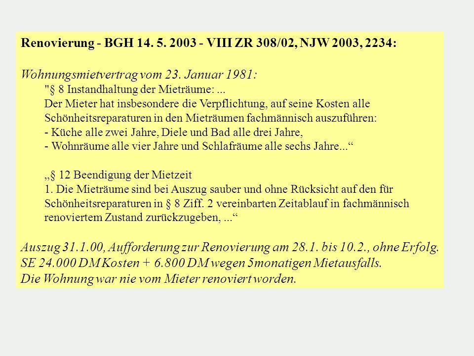 Auszug - BGH 15.03.06 - VIII ZR 123/05, NJW 2006, 1588 M mietete eine Wohnung von V.