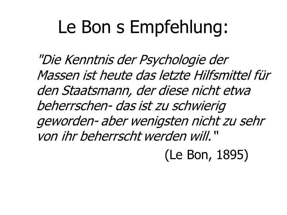 Le Bon s Empfehlung: