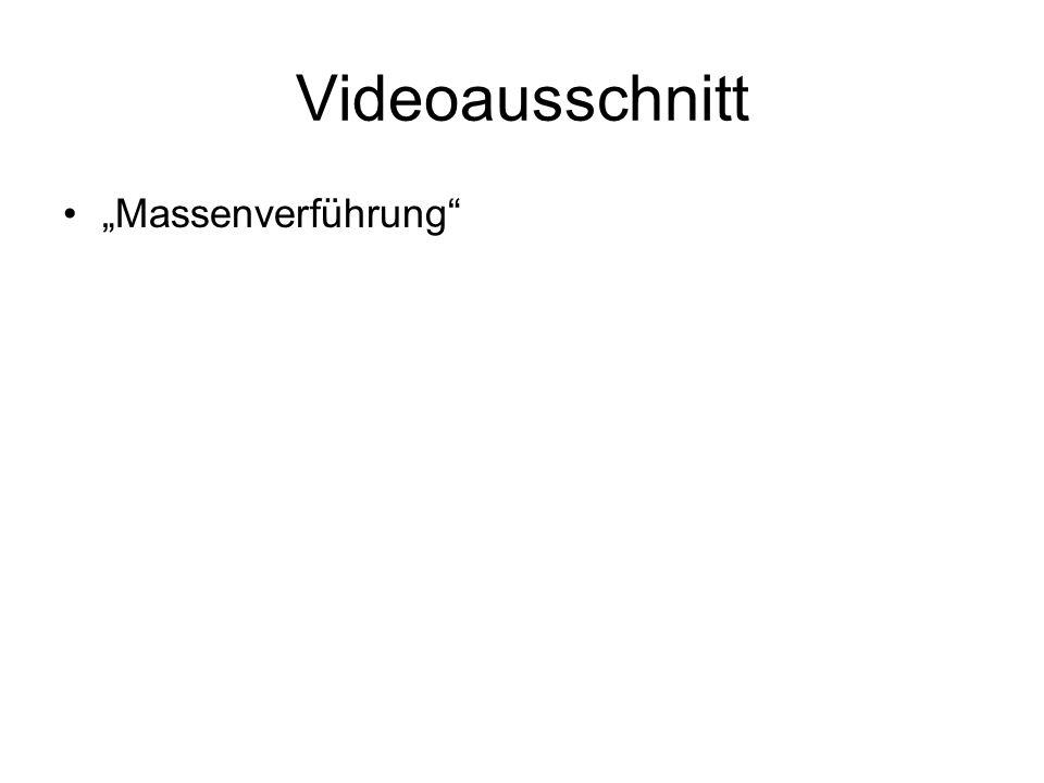 """Videoausschnitt """"Massenverführung"""""""