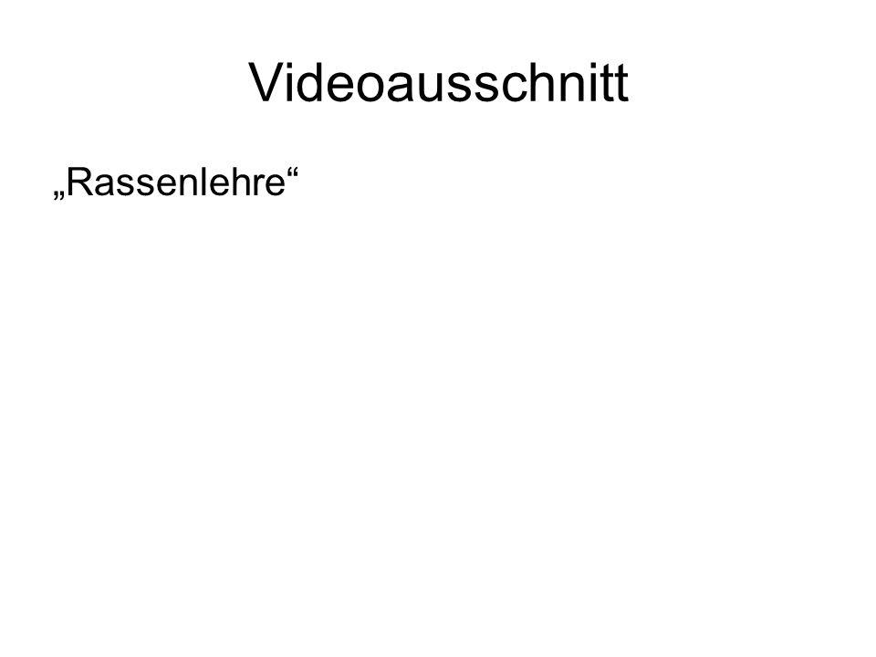 """Videoausschnitt """"Rassenlehre"""""""