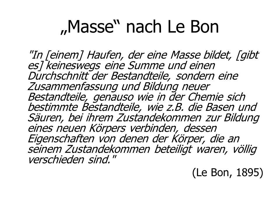 """""""Masse"""" nach Le Bon"""